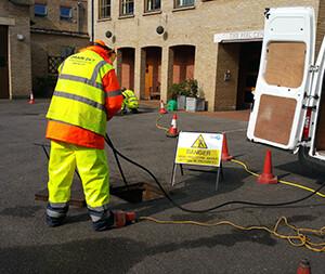 Image of drainage engineer.