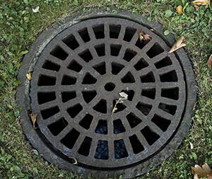 Image of a drain manhole.