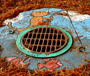 Image of an old drain.