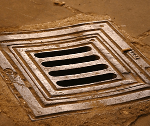 Image of a sewer manhole.
